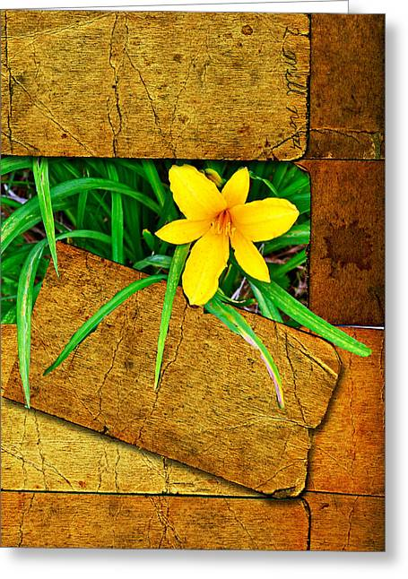 Blooming Out Greeting Card by Larry Bishop