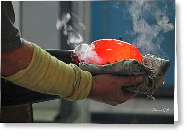 Blowing Glass IIi Greeting Card by Suzanne Gaff