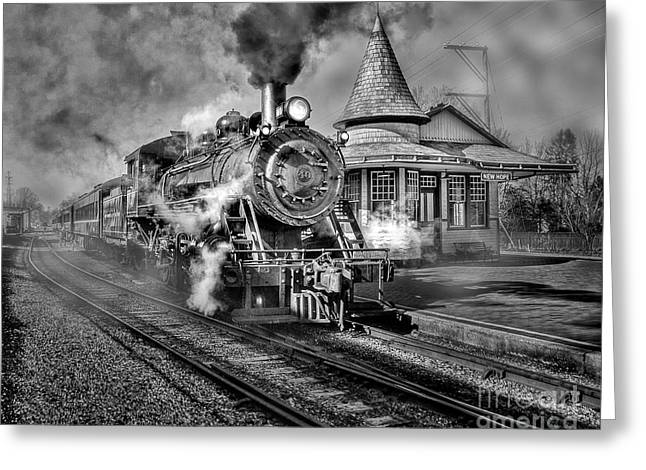 Blowing Off Some Steam Greeting Card by Susan Candelario