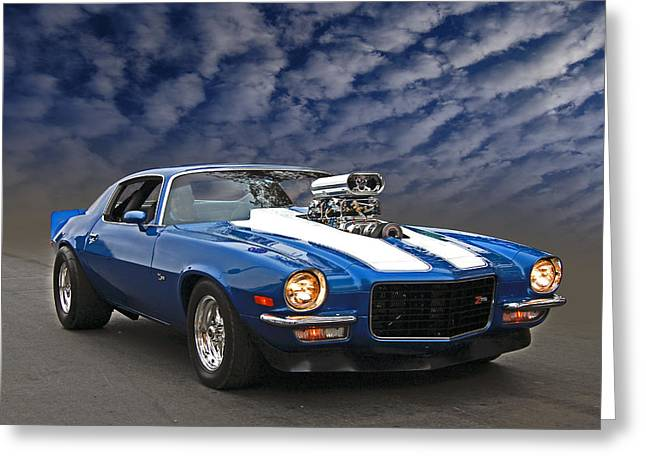 Blown Z28 Greeting Card by Bill Dutting