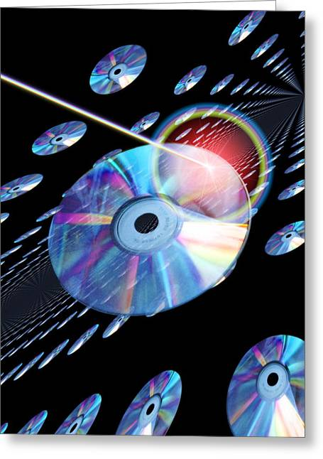 Blu-ray Discs Greeting Card by Victor Habbick Visions