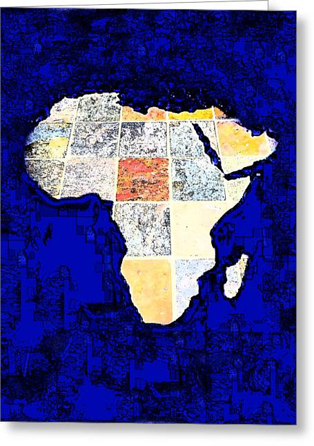 Greeting Card featuring the photograph Blue Africa by Anne Mott