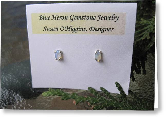 Blue And Green Flash Crystal Opal Greeting Card by Susan Mountainspring