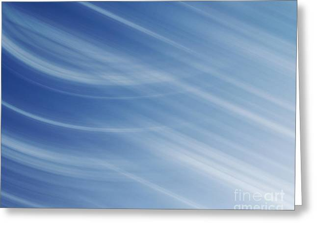Blue And White Linear Background Greeting Card by Blink Images