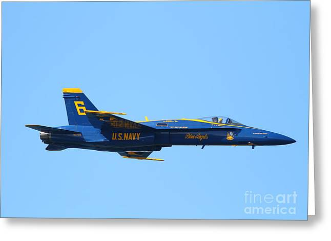 Blue Angels F-18 Super Hornet . 7d7948 Greeting Card by Wingsdomain Art and Photography