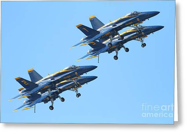 Blue Angels F-18 Super Hornet . 7d7978 Greeting Card by Wingsdomain Art and Photography