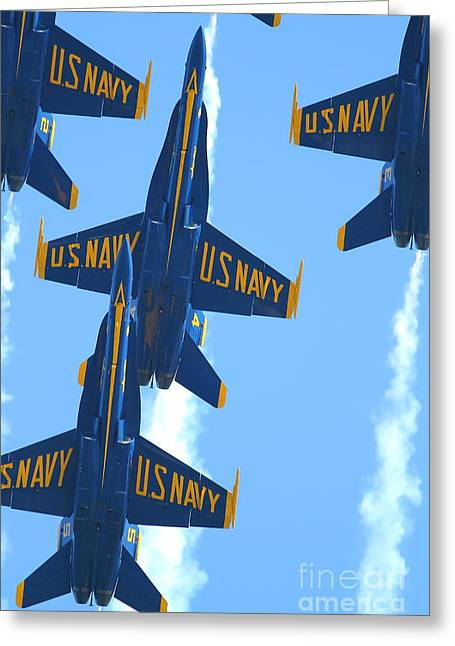 Blue Angels F-18 Super Hornet . 7d8036 Greeting Card by Wingsdomain Art and Photography