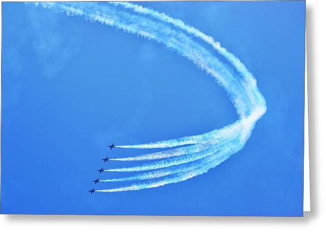 Greeting Card featuring the photograph Blue Angels by Kelly Reber