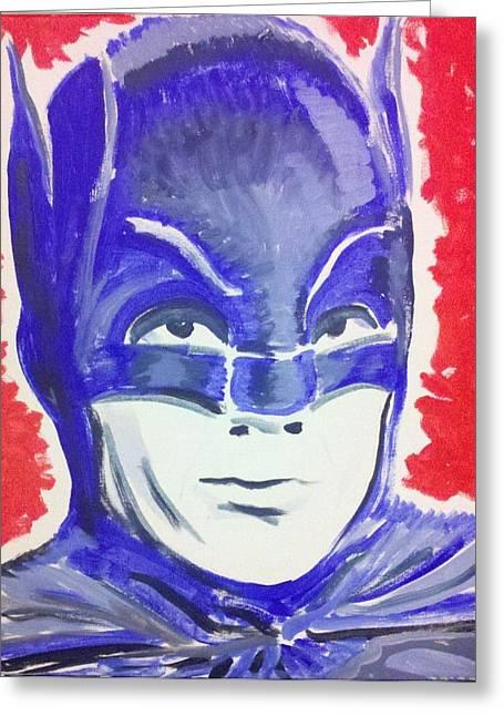 Blue Batman Greeting Card by Ronald Greer