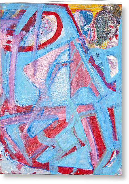 Blue Bin  Greeting Card by Brooks Blackwood