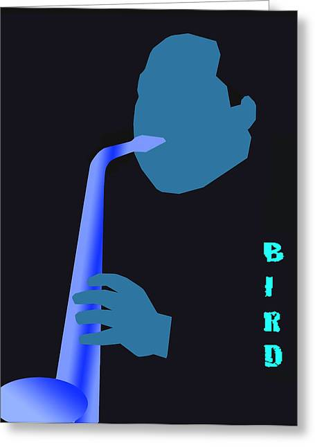 Blue Bird Greeting Card by Victor Bailey