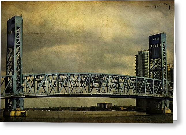 Blue Bridge Greeting Card