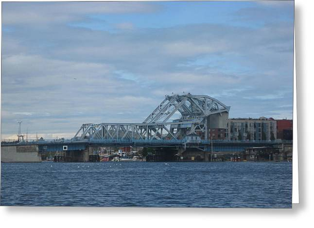 Blue Bridge Victoria Greeting Card
