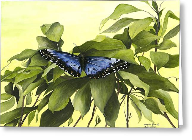 Blue Butterfly Of Branson Greeting Card