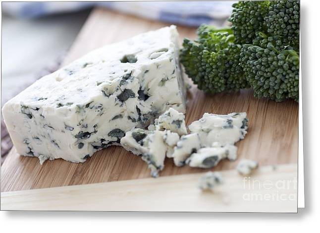 Blue Cheese Greeting Card by Charlotte Lake