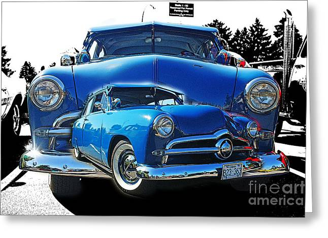 Blue Classic Dbl.hdr Greeting Card by Randy Harris
