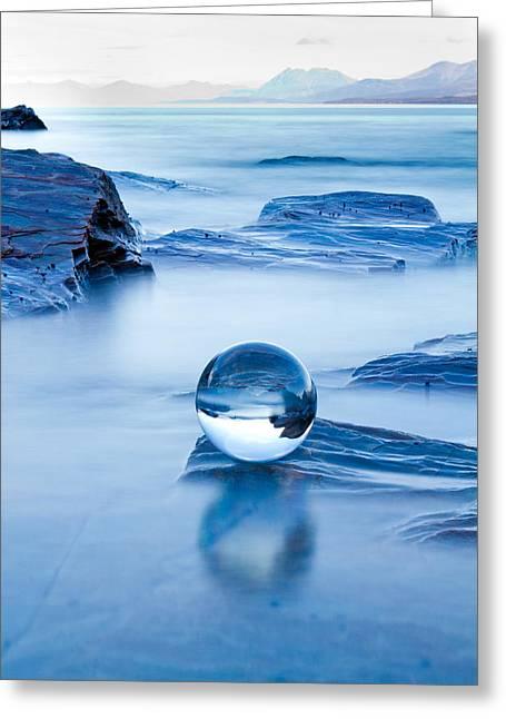 Blue Crystal Greeting Card
