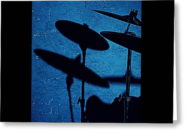 Blue Cymbalism  Greeting Card by Chris Berry
