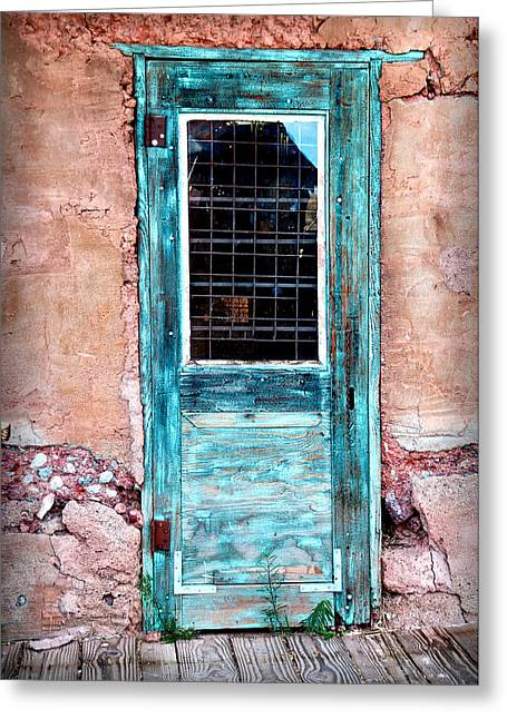 Blue Door 316 Greeting Card by James Bethanis
