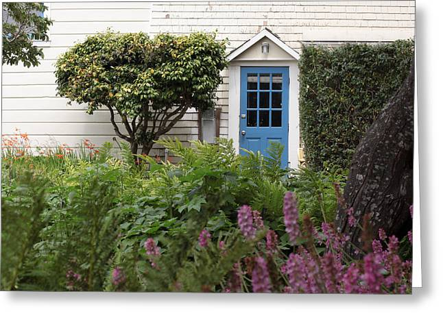 Blue Door Greeting Card by Denice Breaux