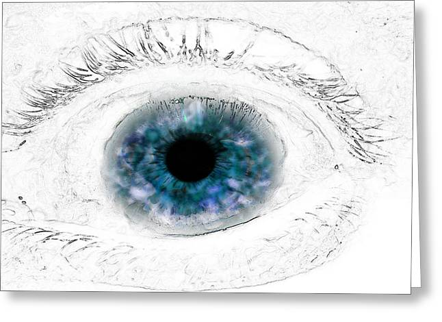 Blue Eye Greeting Card by Phill Petrovic