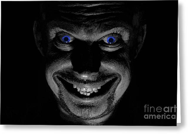 Blue Eyed Demon Greeting Card
