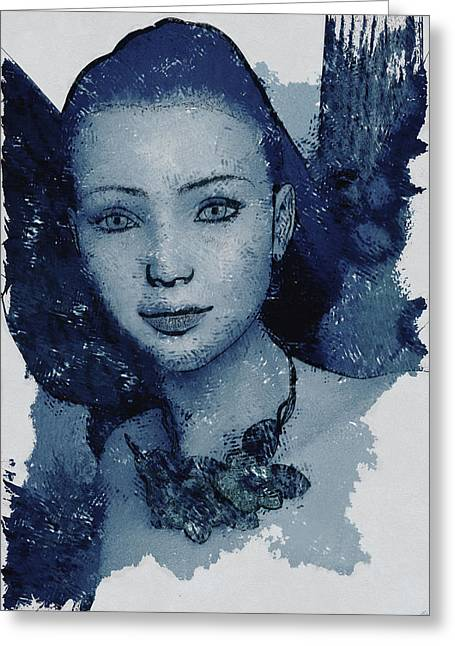 Blue Fae Greeting Card