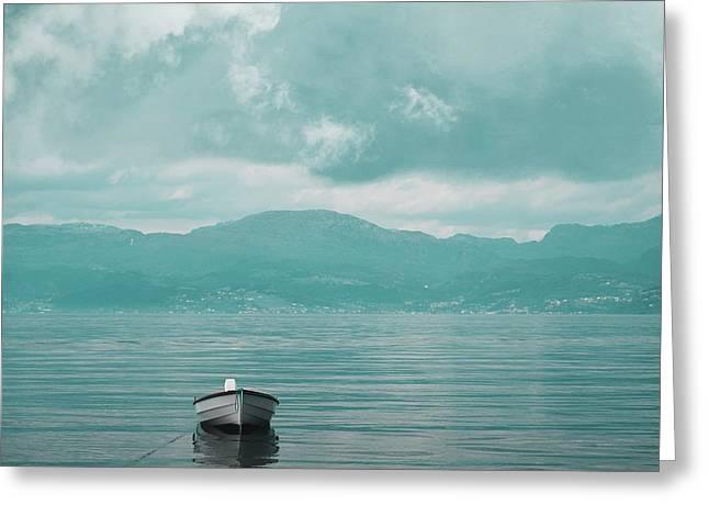 Blue Fjord Greeting Card