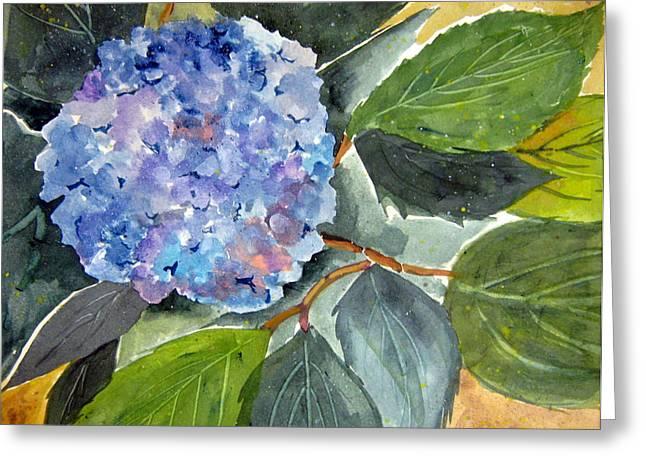 Blue Flower Greeting Card by John Smeulders
