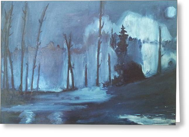 Blue Forest Greeting Card by Joseph Giler