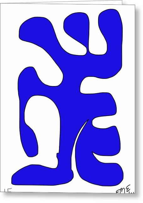 Blue Form 15 Greeting Card by Eric Elizondo