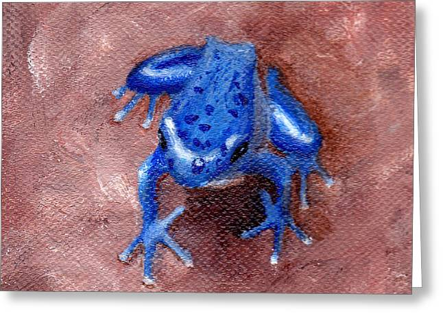 Blue Froggy Greeting Card