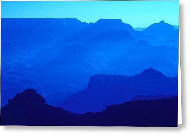 Blue Grand Canyon Greeting Card by Larry Landolfi