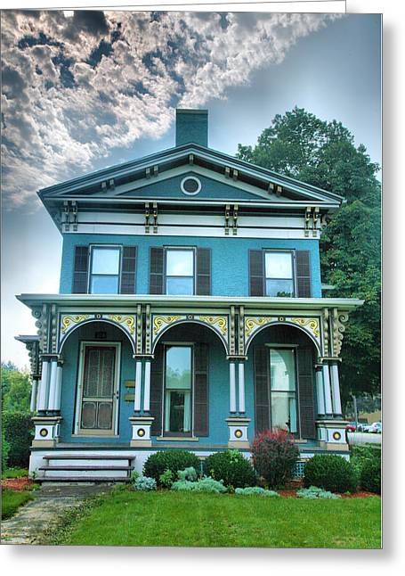 Blue Green House I Greeting Card by Steven Ainsworth