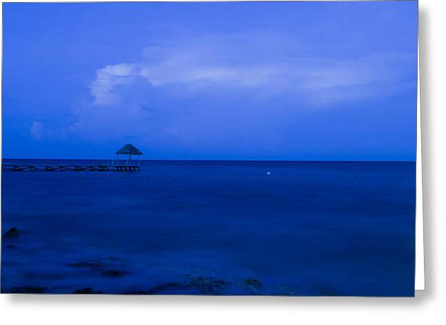 Blue Greeting Card by Guillermo Luengas