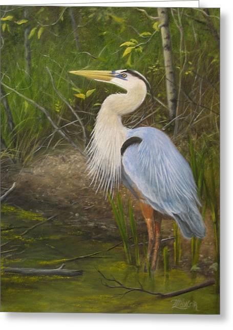Blue Heron Greeting Card
