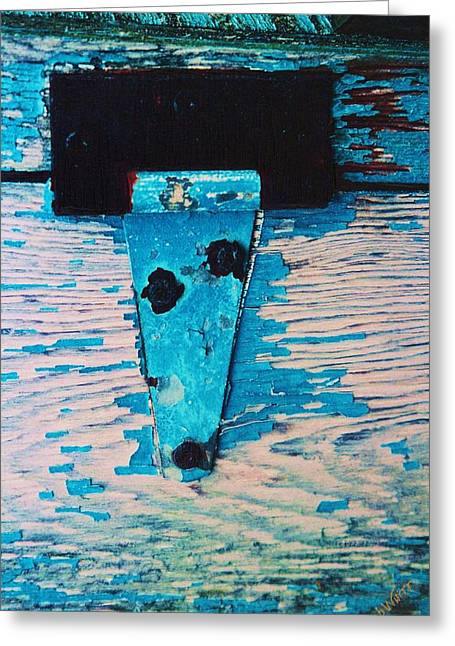 Blue Hinge Greeting Card