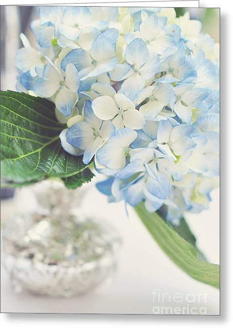 Blue Hydrangea Greeting Card by Tamara Adams