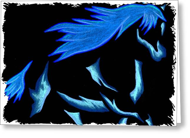 Blue Ice Flows Over Adobe Dance Greeting Card