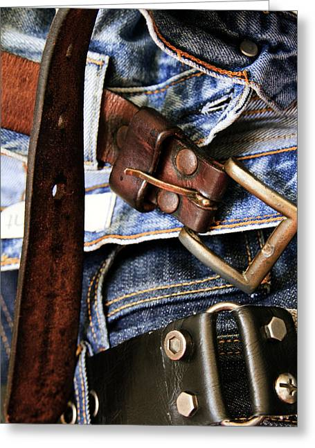 Blue Jeans Greeting Card by Stelios Kleanthous