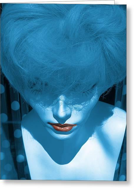 Blue Kiss Greeting Card