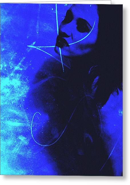 Blue Lady Greeting Card by Falko Follert