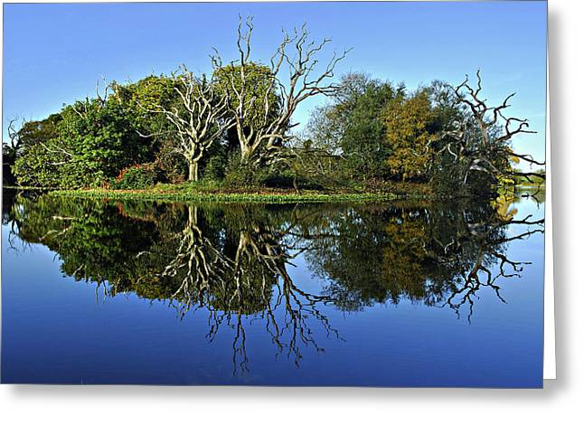 Blue Lake Reflections Greeting Card