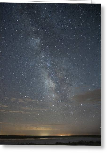 Blue Milky Way Greeting Card
