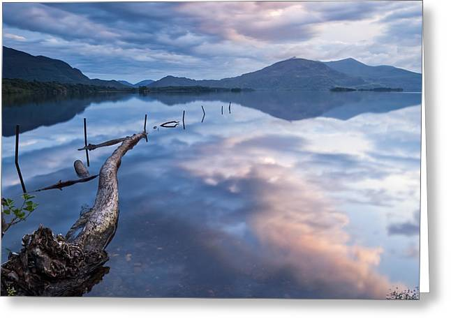 Blue Moment Greeting Card by Brendan O Neill