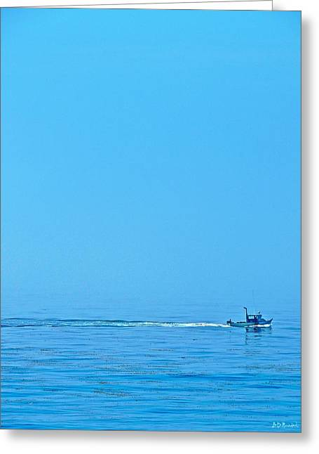 Blue Monday Greeting Card by Brian D Meredith