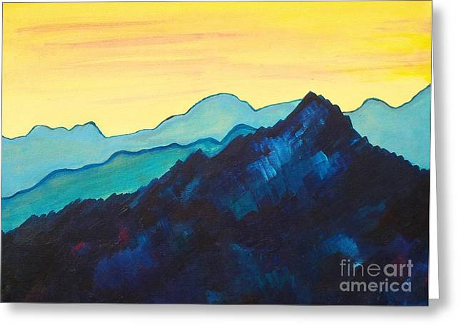 Blue Mountain II Greeting Card