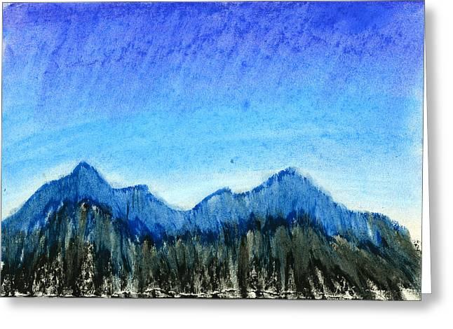 Blue Mountains Greeting Card by Hakon Soreide