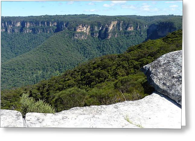 Blue Mountains Greeting Card by Carla Parris