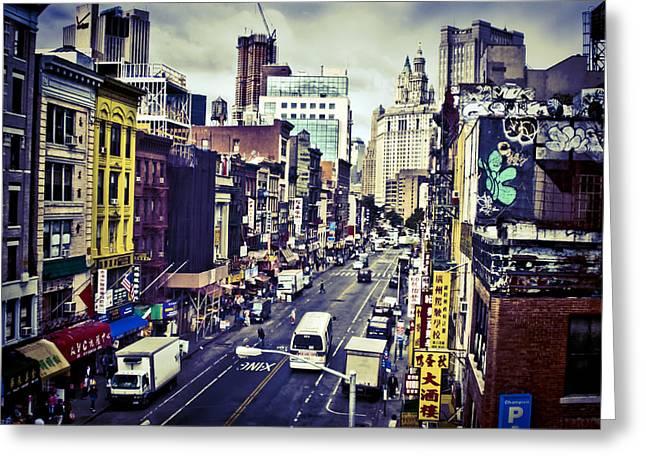 Blue New York City Greeting Card by Brian Lambert